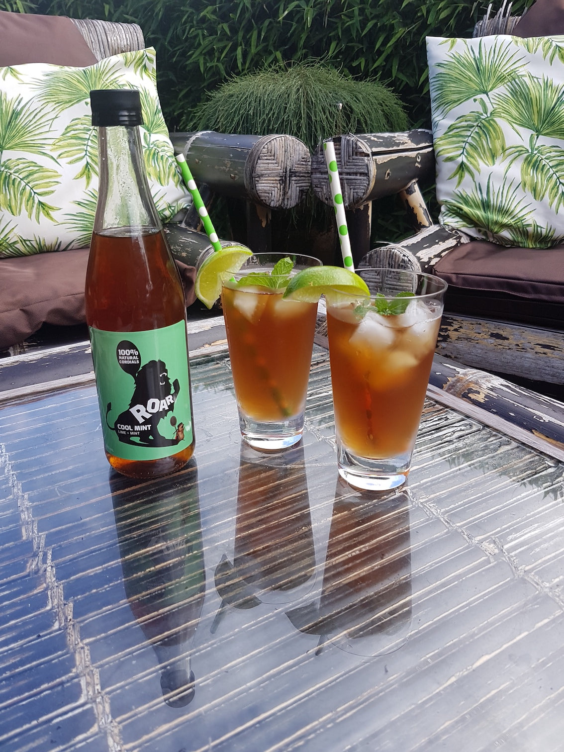 Lemon iced tea. Earl grey iced tea recipe. Roar living. Lime cordial. Refreshing iced tea.