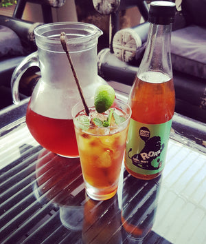Iced tea. Easy iced tea recipe. Refreshing summer drink. Roar Living all natural cordials. Australian made cordials.