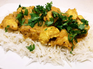 Easy, family friendly mango chicken curry recipe. Easy indian curry recipe