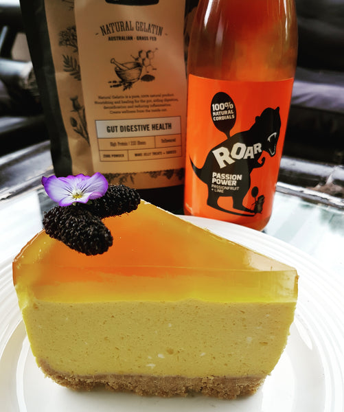 Mango Cheesecake with Passion Power Jelly