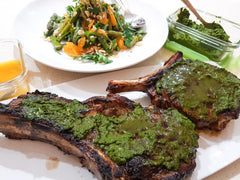 Best BBQ recipe ideas. Tomohawk steak. Chimichurri recipe. Summer salad