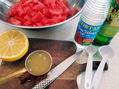 watermelon salad dressing. Feta and watermelon recipes