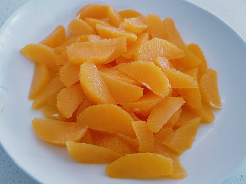 Fresh orange segments without pith or skin. Orange Salad recipe