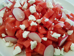 feta cheese recipe. Simple summer salads with feat cheese.