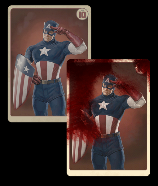 AGENT COULSON'S VINTAGE CAPTAIN AMERICA TRADING CARDS