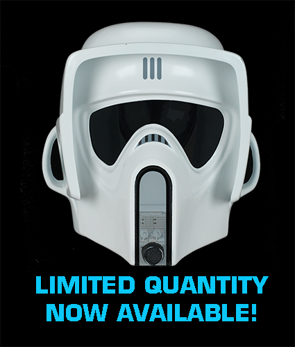 SCOUT TROOPER HELMET - LIMITED EDITION