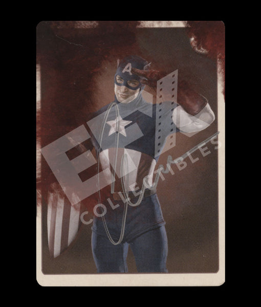 AGENT COULSON'S VINTAGE CAPTAIN AMERICA TRADING CARDS - CHRIS EVANS SIGNATURE EDITION
