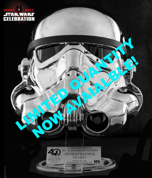 40th ANNIVERSARY COMMEMORATIVE STORMTROOPER HELMET