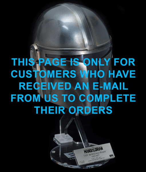 THE MANDALORIAN HELMET - LIMITED EDITION (BALANCE PAYMENT)
