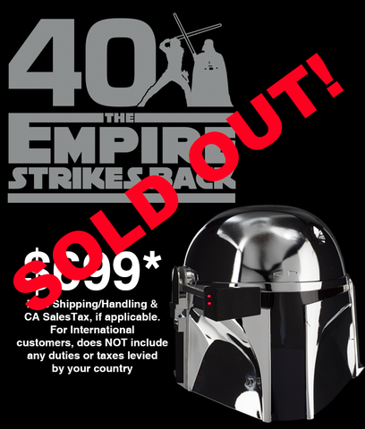 40th ANNIVERSARY COMMEMORATIVE BOBA FETT HELMET