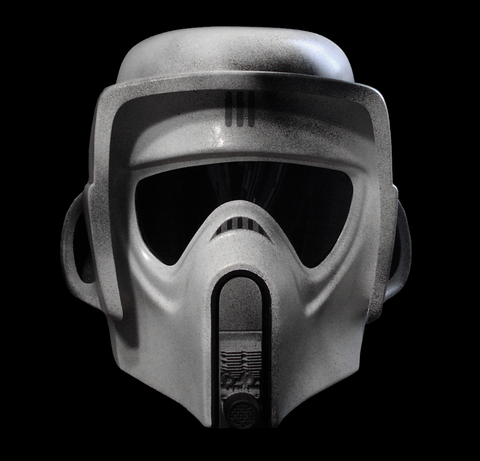 SCOUT TROOPER HELMET & PISTOL - LEGEND EDITION