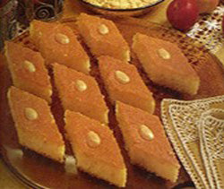 Semolina Cake with Almonds