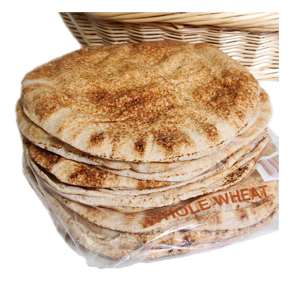 Pita Bread - Thin, Whole Wheat Brown and Freshly baked