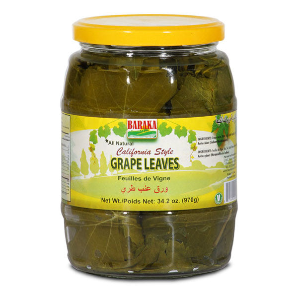 Baraka California Style Grape Leaves 34.2oz 970g