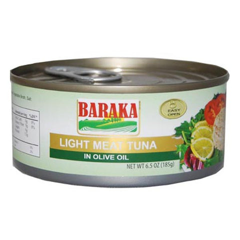 Baraka Light Meat Tuna in Olive Oil 185g
