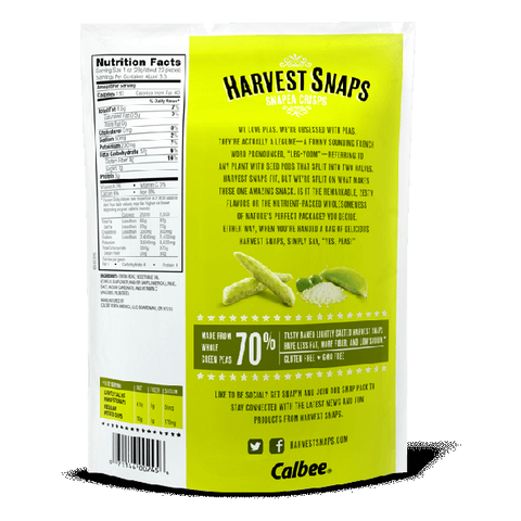 Calbee Snapea Original Green Pea Crisps Lightly Salted 3.3 ounce (Case of 12)