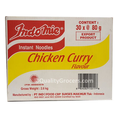 Indomie Chicken Curry Flavor Instant Noodles (Box of 30 packs)