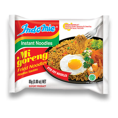 Indomie Mi Goreng Fried Instant Noodles (Box of 30 packs)