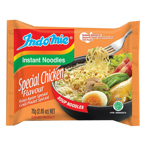 Indomie Special Chicken Flavor Instant Noodles (Box of 30 packs)