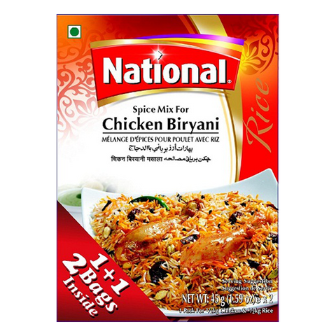 National Chicken Biryani Masala Spice Mix 90g