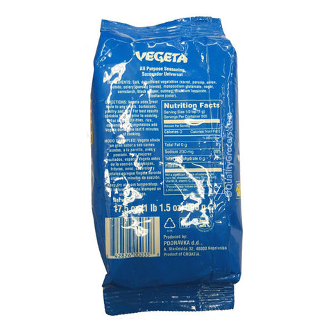 Podravka Vegeta All Purpose Seasoning 500g or 17.5oz