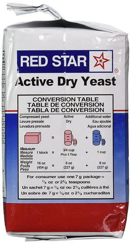 Red Star Yeast Dry Vacuum Packed 2LB or 908g