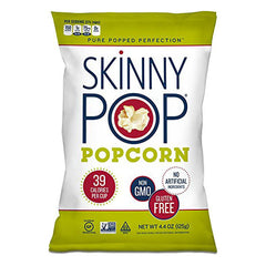 SkinnyPop Popcorn Plain Original Flavor 4.4oz (case of 12)
