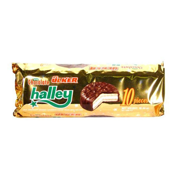 Ulker Halley Chocolate Cookies with Halal Marshmallow Fillings 300g