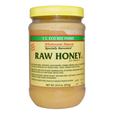 YS Eco Bee Farms Raw U.S. Grade A Honey 22oz