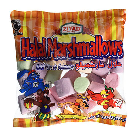 Ziyad Halal Fruit Colored Marshmallows 8.82oz