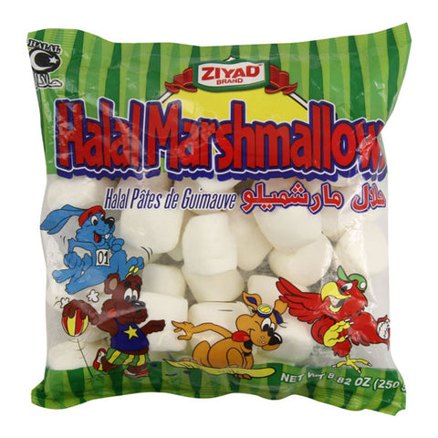 Ziyad Halal Plain White Marshmallows 8.82oz