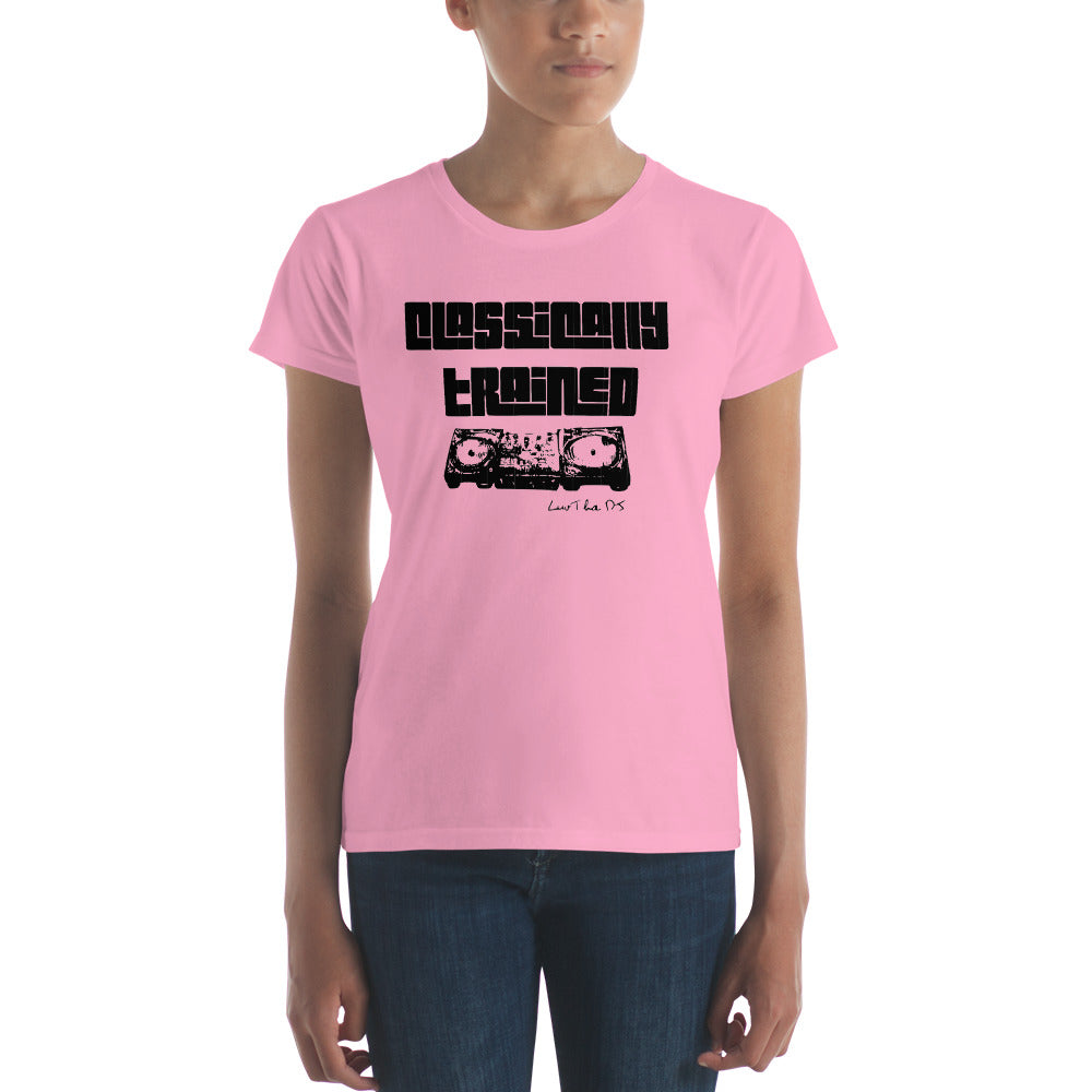 """Classically Trained"" Women's short sleeve t-shirt"