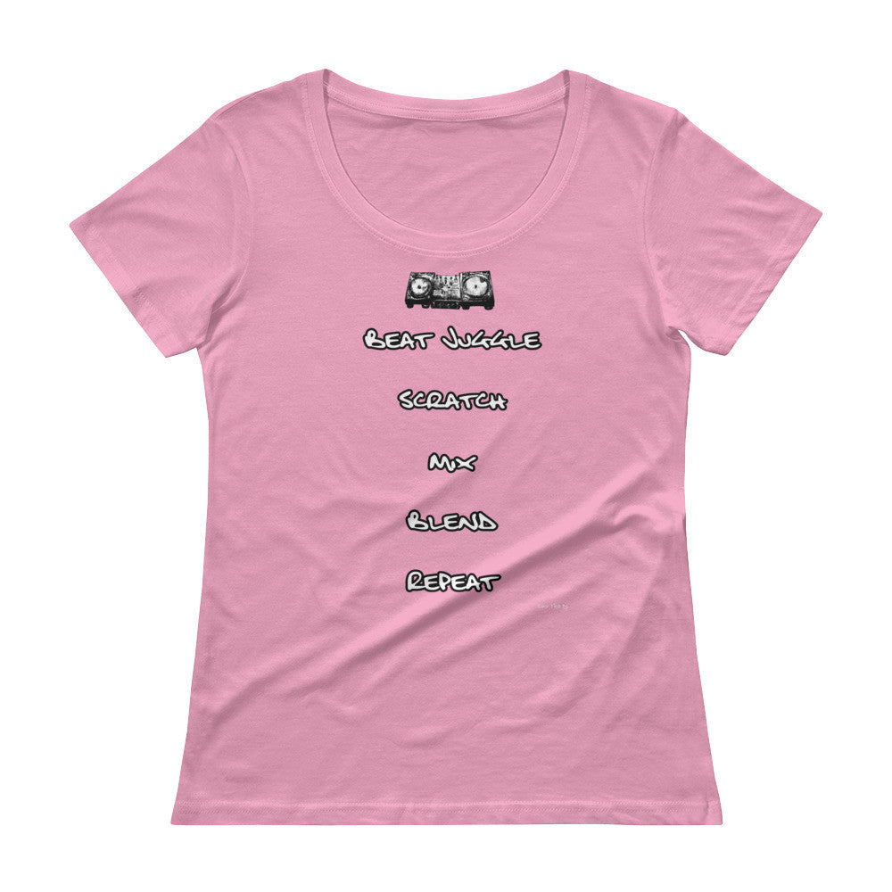 """DJ Fundamentals"" Ladies' Scoopneck T-Shirt"