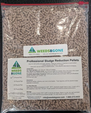 5 LB Bag Weeds B Gone Muck Pellets with oxygen source