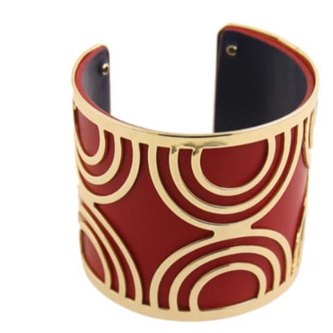 Blue Scarab - Chameleon  Red/Gold Cuff