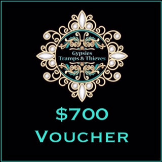 $700 Gift Voucher - Gypsies, Tramps & Thieves. Hervey Bay 4655. https://gypsies-tramps-thieves.myshopify.com/products/700-gift-voucher