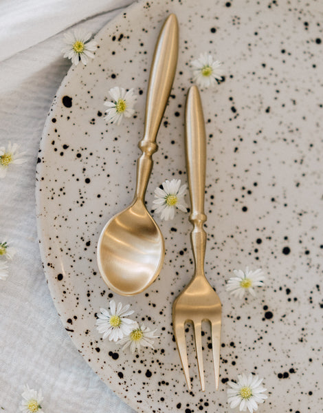 Classic Gold Spoon and Fork Set