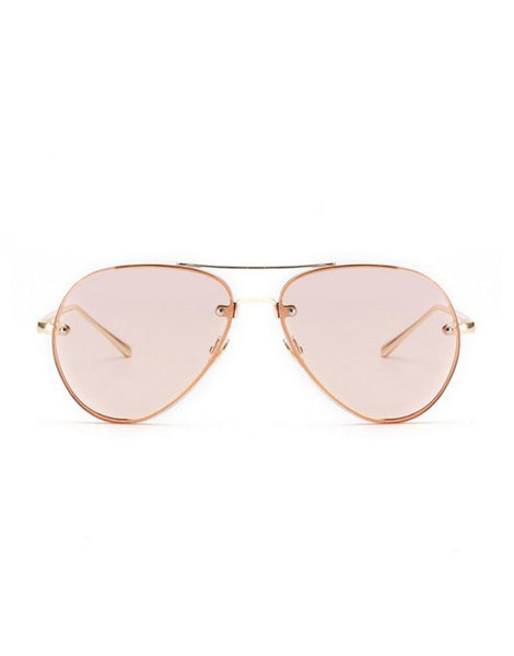 EIGHTY6 JET ROSE AVIATORS SUNGLASSES