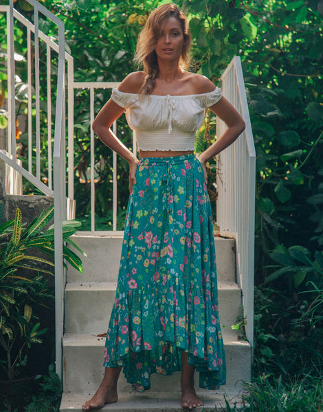 ULU FLORENCE MAXI SKIRT SEASIDE DAISY
