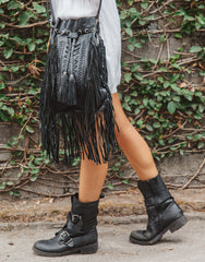 ULU FAIRVIEW TASSEL BLACK BAG, ULU THE LABEL - kinilush