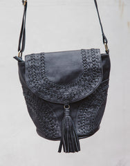 ULU SAHARA BUCKET BLACK BAG, ULU THE LABEL - kinilush