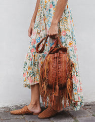 ULU FAIRVIEW TASSEL BROWN BAG, ULU THE LABEL - kinilush