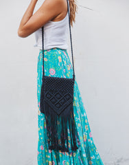 ULU JERA MACRAME BLACK BAG, ULU THE LABEL - kinilush