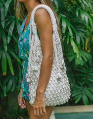 ULU KIMBERLY CREAM MACRAME BAG, ULU THE LABEL - kinilush