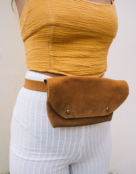 ULU LOLA SUEDE BELT BAG MUD