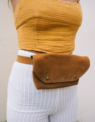ULU LOLA SUEDE BELT BAG MUD, ULU THE LABEL - kinilush
