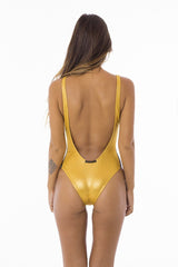 STELLAR DUST Moorea Cheeky One Piece Gold/Black, Stellar Dust - kinilush