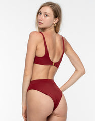 Rimmba Kaia Bikini Top Deep Red