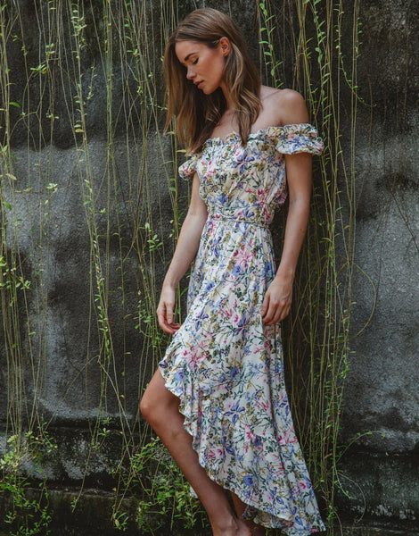 ULU BAILEE FRILL DRESS MORNING BLOOM