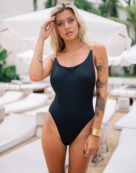 ELLA JANE ONE PIECE BLACK TAN